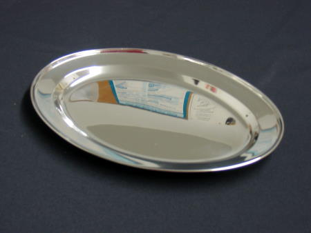 TRAY - STAINLESS 12in OVAL