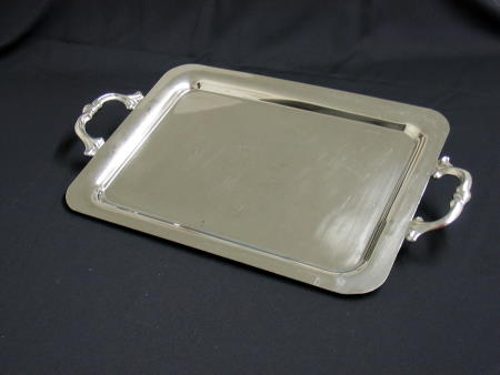 TRAY - STAINLESS 15x20 W HANDLES