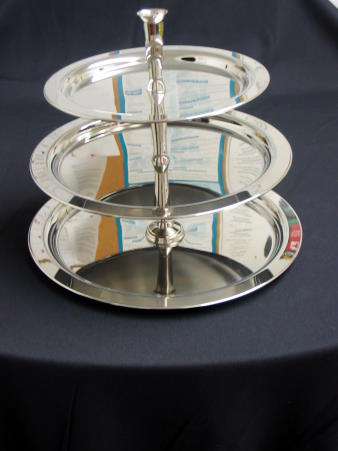 TRAY - STAINLESS 3 TIER ROUND