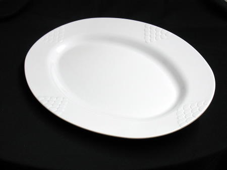 TRAY - WHITE 30in OVAL