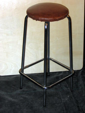 BAR STOOL - NO BACK - BROWN