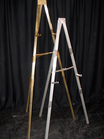 EASEL - ALUMINUM - SILVER OR GOLD