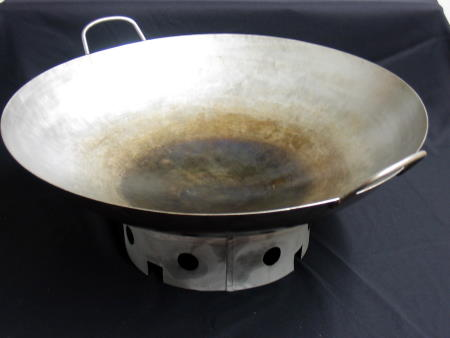 WOK 16in W LID & ROUND RING
