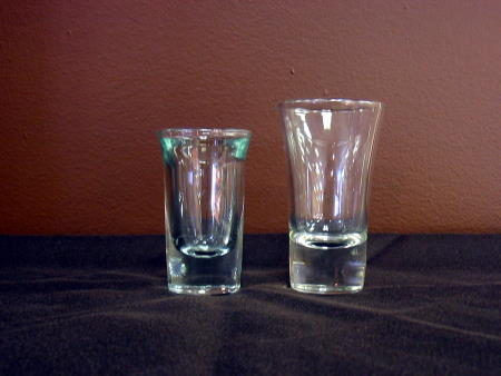 SHOOTER GLASS 1oz OR 2oz