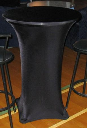 SPANDEX TABLE CLOTH - BLACK COCKTAIL 30in