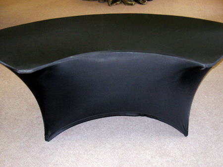 SPANDEX TABLECLOTH - BLACK SERPENTINE