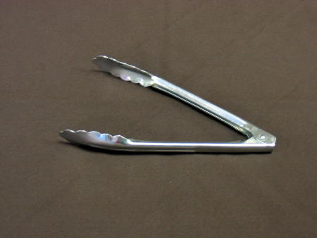 TONGS - SMALL METAL 9in