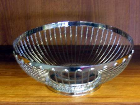 BREAD BASKET - STAINLESS STEEL